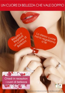 Promozione San Valentino bellezza centro estetico Aquabeauty