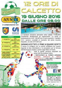 12 ore calcetto aquaclub grumello 2016