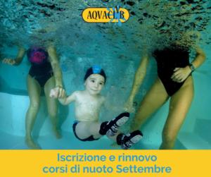 iscrizioni corsi di nuoto aquaclub