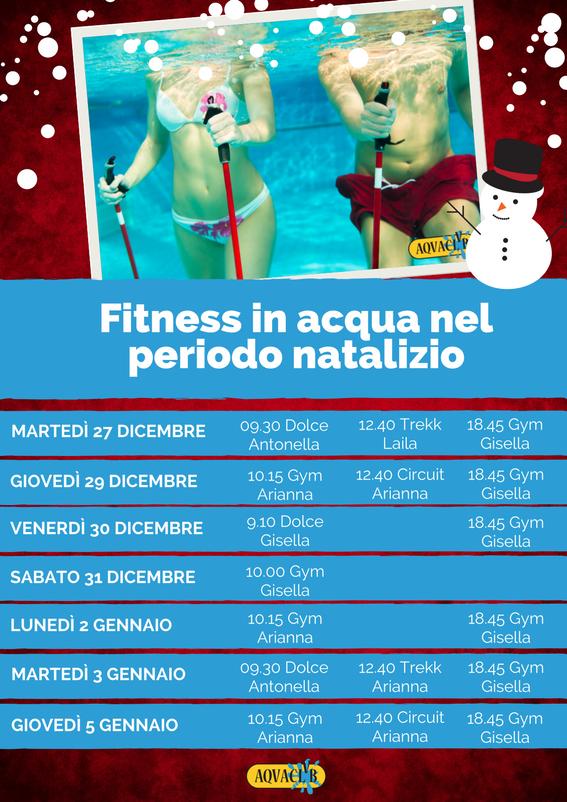 Fitness piscina Aquaclub Natale